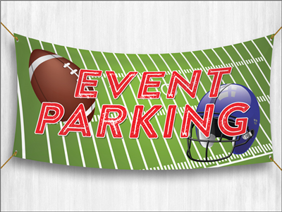 (Pre-Designed) Event Parking Banner - Football