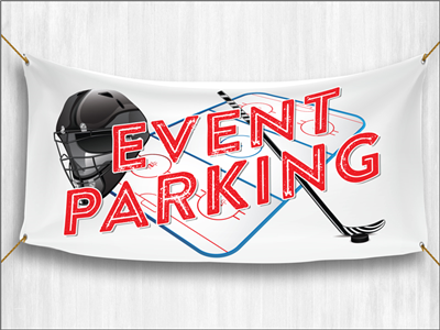 (Pre-Designed) Event Parking Banner - Hockey