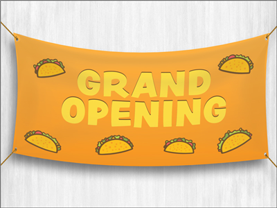 (Pre-Designed) Grand Opening Banner - Tacos