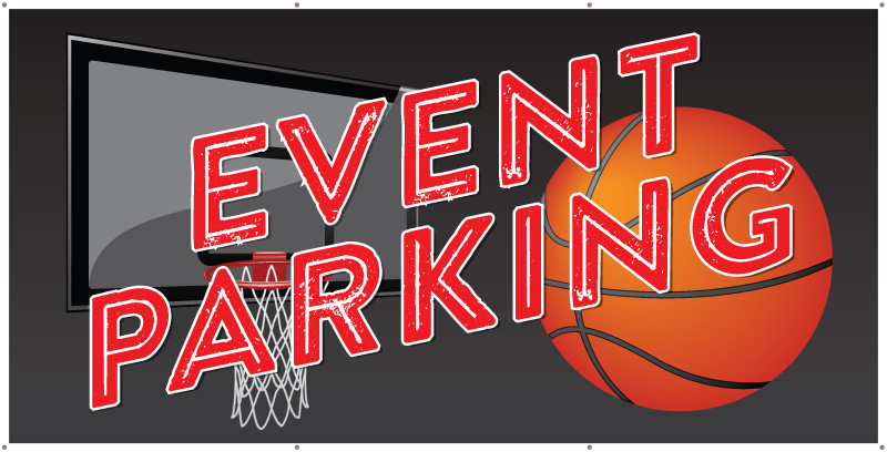 event parking banner basketball