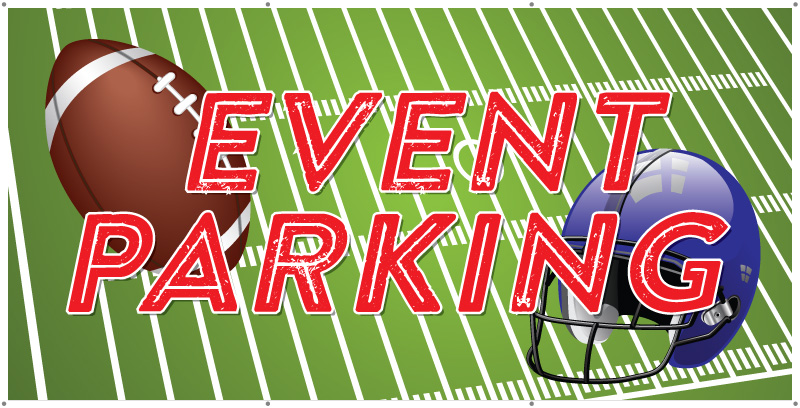 event parking banner football