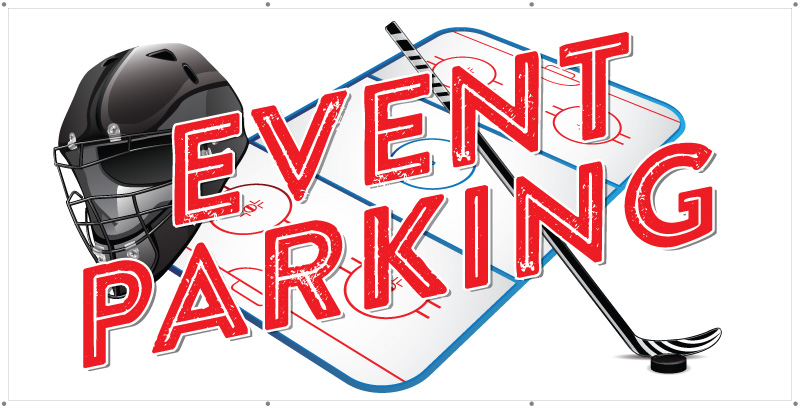 event parking banner hockey